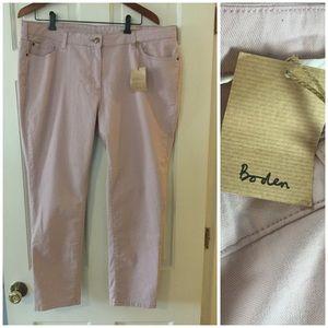 😍SALE😍 Boden skinny skimmer ankle jeans pink 16